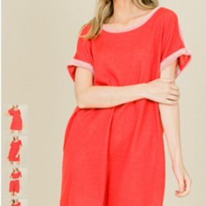 Annabelle Red Cap Sleeve Dress Size L